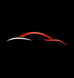 abstract custom car swoosh shape symbol vector image