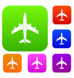 airplane set collection vector image