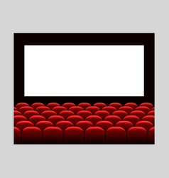 cinema movie premiere poster design with white vector image vector image