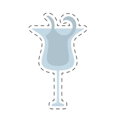 glass cup cocktail drink beverage cut line vector image