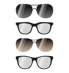 glasses and sunglasses set vector image vector image