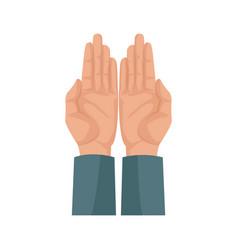 Human hand man showing palms finger vector