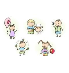 Kids Playing with Ball Baloon vector image vector image