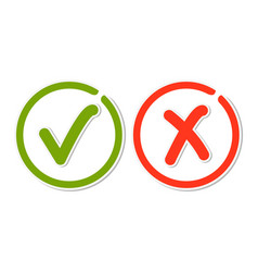 line check mark stickers vector image