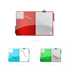 office folders set vector image vector image