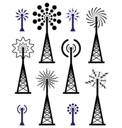 radio towers vector image