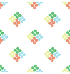Seamless pattern with rhombus of circles on a vector image vector image