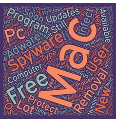 Spyware now a problem for Mac users as well text vector image vector image