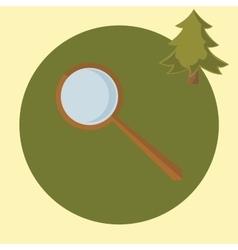 flat design magnifier vector image vector image