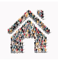 group of people form house vector image vector image