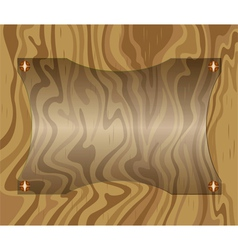 Label glass on wood vector image vector image