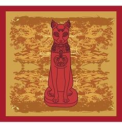 Stylized Egyptian cat vector image