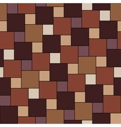 warm brown tiles seamless pattern vector image