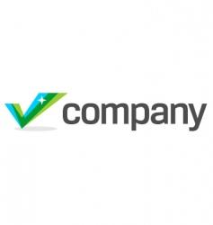 business check mark logo vector image vector image