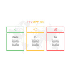 business infographics presentation with 3 columns vector image vector image