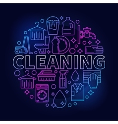 Colorful cleaning service sign vector image vector image