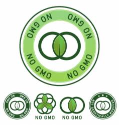no GM label vector image vector image