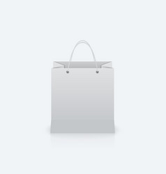 Paper bag with handles vector image