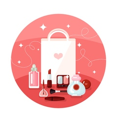 Round Cosmetics Concept vector image