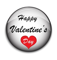 Valentine Button on white backgrounde vector image vector image