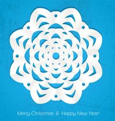 Applique snowflake Christmas card vector image vector image