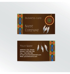 Ethnic Business Card vector image