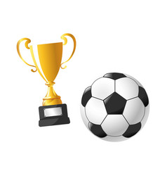 football cup award soccer sport flat icons vector image