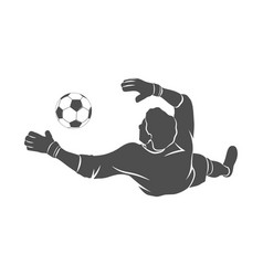 goalkeeper ball icon vector image