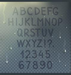 Hand drawn transparent alphabet composition vector