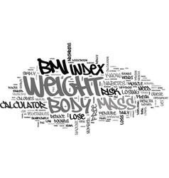 What s your body mass index text word cloud vector
