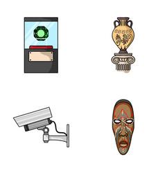 A diamond a vase on a stand a surveillance vector