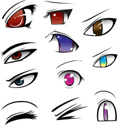 anime eyes vector image
