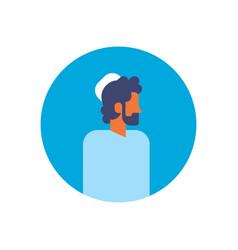 arabic man beard profile avatar icon arab vector image