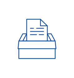 archive of documents line icon concept archive of vector image