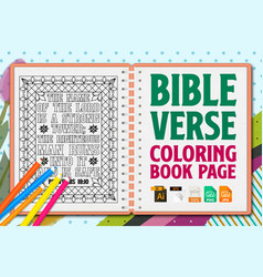 Bible verse coloring pages christian lettering vector
