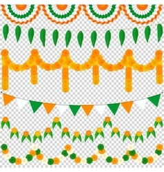 Bunting Indian set vector image