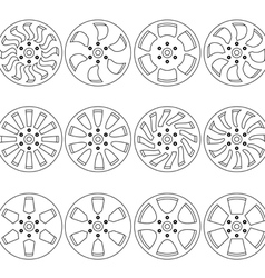 Car alloy wheels vector image