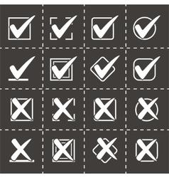 Check marks icon set vector
