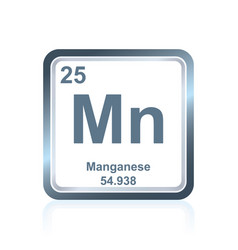 chemical element manganese from the periodic table vector image vector image