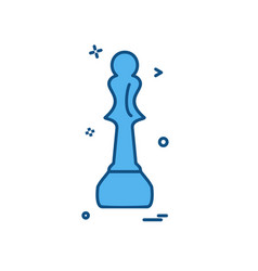 chess icon design vector image