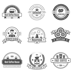 Coffee House Emblems Set vector image