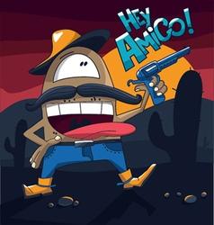 Cowboy hey amigo vector
