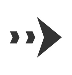 Dashed arrow glyph icon arrowhead showing right vector