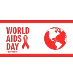 december Aids Awareness World Day concept vector image