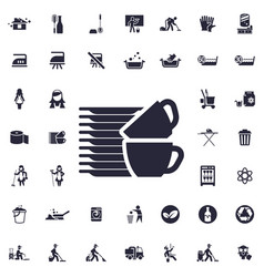Dishes icon vector
