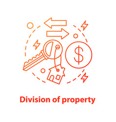 Division property concept icon vector