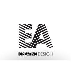 Ea e a lines letter design with creative elegant vector