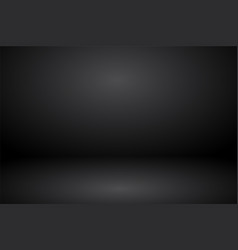 Empty black gray studio abstract background vector