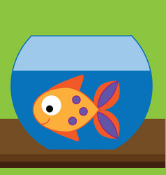 Fish in aquarium for kids and vector