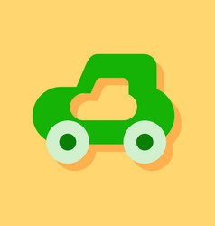 Flat icon design collection toy car in sticker vector